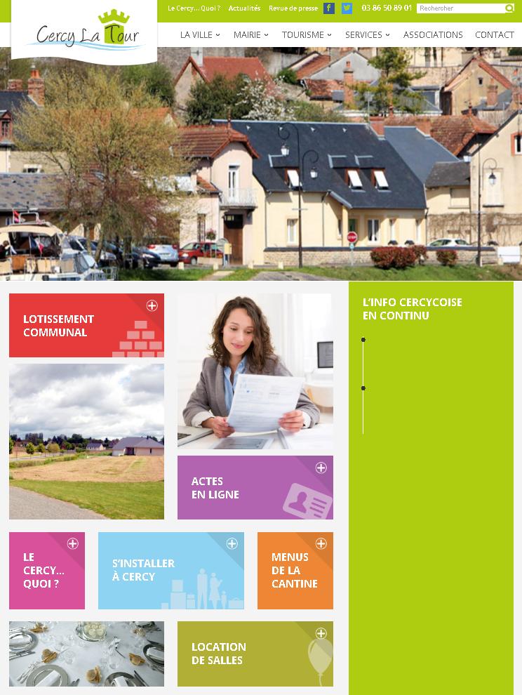 Site internet de Cercy-la-Tour